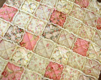 Shabby Chic Rag Quilt for Baby