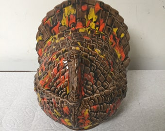 Vintage Ceramic Turkey Candy Dish Hand made