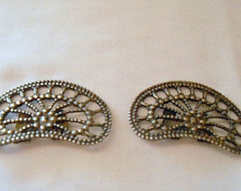 Vintage Steel Cut collectable shoe Clips
