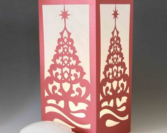 Laser cut Luminary #79 - Christmas Tree