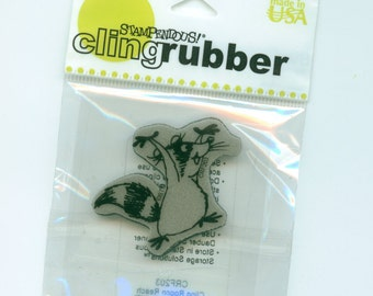 Racoon Stamp, Cling rubber by Stampendous