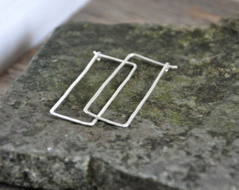 Rectangular Hammered Hoops