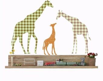 Giraffe Wall Decals, Nursery Wall Decals, Giraffe Decor, Giraffe Family, Boy Nursery Decor, Baby Shower Gift, Safari Animals, Playroom Decor