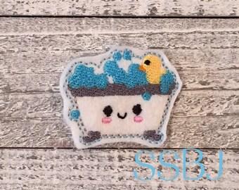 Bath Tub Bubbles Embroidery Feltie File Planner Clip-Planners-Organizer-Paper Clip-FeltieTM