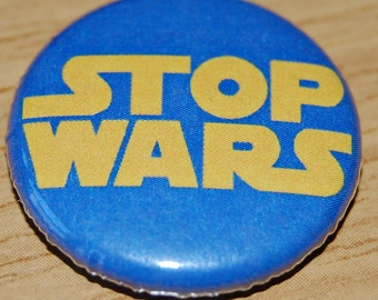 Stop Wars Button Badge 25mm / 1 inch Peace Star