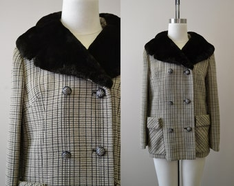 1960s French Poodle Fur Collar Coat