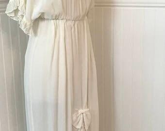 Markka Nakk Ivory Western Prairie Cowgirl Dress