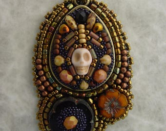 Day of the Dead Pendant Black