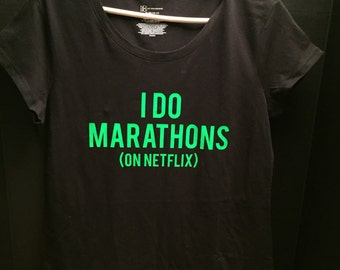 Unisex t-shirt Marathoners on net flix.