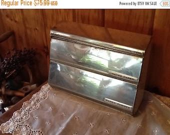 SaLe Lincoln Beauty Ware Tin Dispenser Aluminum Foil Waxed Paper & Paper Towel Holder Rare 1950's Retro Kitchen Decor