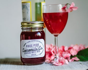 Hibiscus Wine Spritzer Mix - Valentine Drink Mix - Wine Gifts for Women - Simple Syrups - Tea Lovers - Date Night - Pikes Peak Lemonade