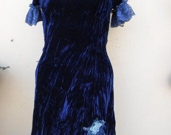 "20%OFF bohemian gypsy pixie boho velvet dress...small to 34"" bust..."