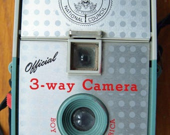 Boy Scouts of America Official 3-way Camera made by Imperial Camera Corp of Chicago, Illinois