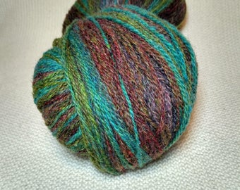 KAUNI Undyed Wool Yarn, Worsted Weight 8/2  2ply, 100% wool, Seafoam Green, Rusty, Green, Lilac