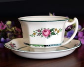 Wood and Sons Tea Cup and Saucer, Vintage Porcelain Teacups 13770