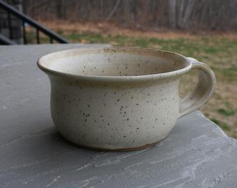 Pottery Soup Mug Linen Glaze NC Pottery