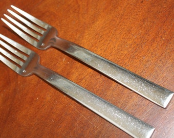 Forks by Fortessa in Still Pattern (2) Mid Century Modern Style BIN 58