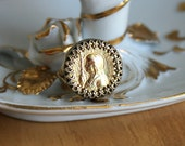 Joan of Arc Ring - Vintage French Saint Joan of Arc Adjustable Ring