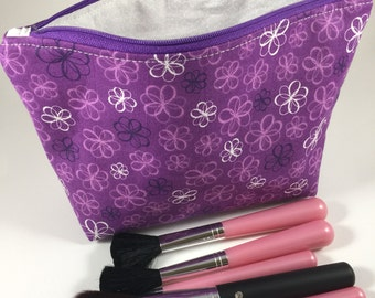 Padded Cosmetic Bag, Makeup Bag, Toiletry Bag, Makeup Brush Roll, Accessory Bag, Pencil Case, Travel Bag, Zipper Pouch, Purse Organizer