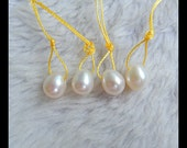 Sale 4 pcs Natural Fresh Water Pearl Necklace Beads , 9x8mm,3g(a0279)