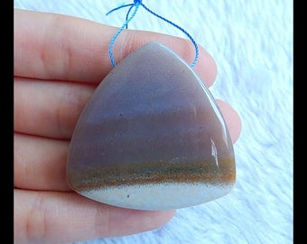 New!! Ocean Jasper Gemstone Pendant Bead,Triangle Pendant,41x10mm,24.6g(b0338)