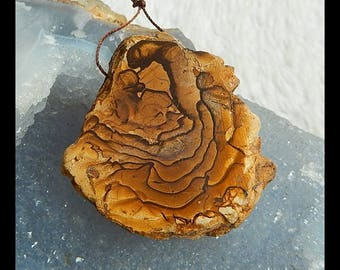 Nugget Boulder Opal Gemstone  Pendant Bead,47x46x7mm,20.7g(d0498)