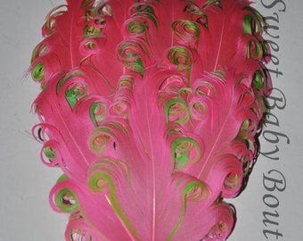Feather Pad Hot Pink/Lime