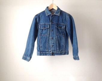 blue DENIM FADED jean jacket cropped coat