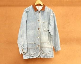 90s oxford twin peaks FIELD JACKET northwest denim jacket coat