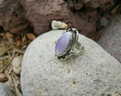 CUSTOM Statement Ring Sterling Silver Tiffany Stone