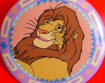 Disney Lion King Jewelry-Button Badge- Collectible Movie Cartoon