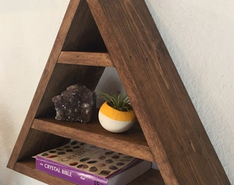 Wood Pyramid/Triangle Shelf (Provincial)