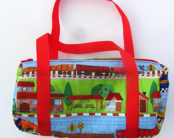 Toddler Boy Gift Grandson Baby Shower Present Quilted Duffle Bag