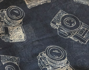 Camera Scarf, Blue