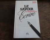 Vintage French Le Savoir Guide Pratique De Correspondance Ecrire Writing Gramar Guide French Cook Book Hardback circa 1989 / English Shop