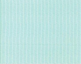 Sugar Pie Aqua Herringbone 5044 15 by Vanessa Goertzen of Lella Boutique for Moda