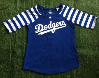 Los Angeles Dodgers Game Day Raglan Shirt Size Large Upcycled