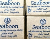 Seaboon, All Natural Handmade Soap, Solid Wash, Sea Salt & Sea Kelp