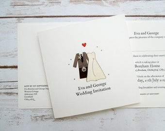 Scottish Bride and Groom Wedding/Evening Invitations