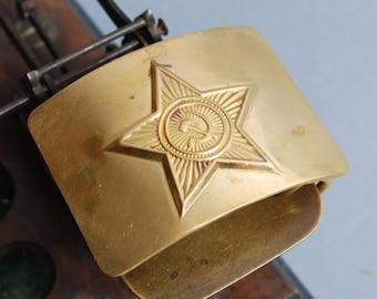 Original Soviet Russian Army military uniform belt buckle.