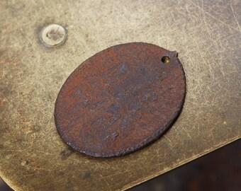 Antique religious copper medal. Ortodoks church