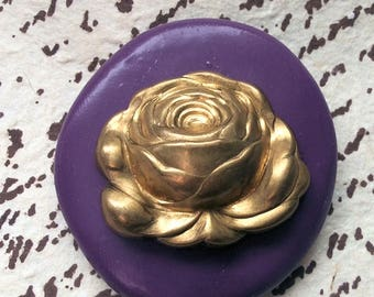 Large Rose Mold Flexible silicone push mold- fondant, wax, miniature foods, decoden, clay, resin, sweets, pmc