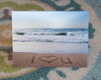 I Heart You Notecard - ( I love you)