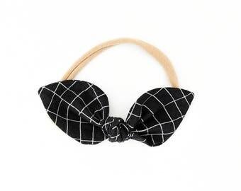 Top Knot Headband - Toddler Bow Headband - Bunny Ears Headband - Girls Hair Bow Clip