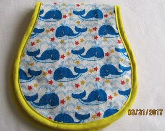Whales Burp Cloth