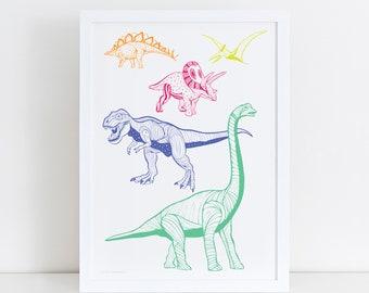 Dinosaur Poster | Trex Print | Children's Decor |