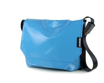 Messenger Bag made from Upcycled Truck Tarp, Water resistant Laptop Bag, Courier Bag, Satchel, Shoulder Bag (O06)