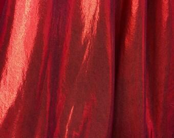 4-Way Stretch Mystique Metallic Spandex Fabric - Red