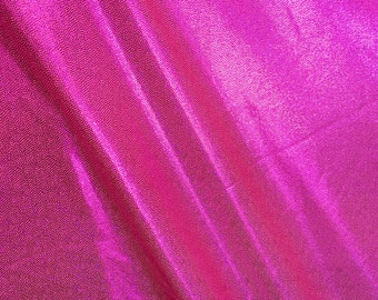 4-Way Stretch Holographic Mystique Spandex Fabric - Neon Pink