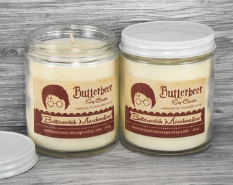 Butterbeer Soy Candle - Butterscotch Marshmallow